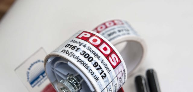 PODS Packing Tape for your Cheshire Removals and Storage