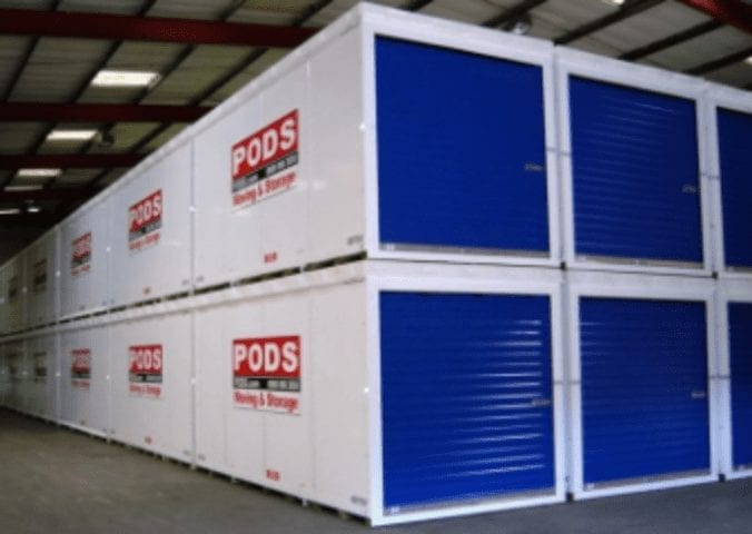Storage at PODS Warehouse