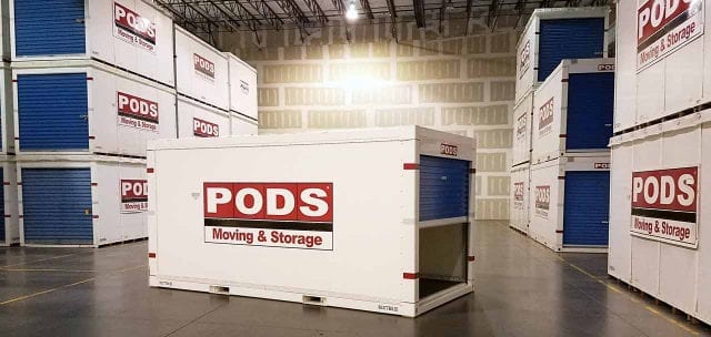 PODS Containers in Warehouse - Manchester self storage depot