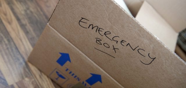 emergency packed box