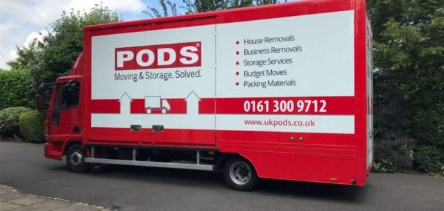 PODS Office Removal Truck Closed