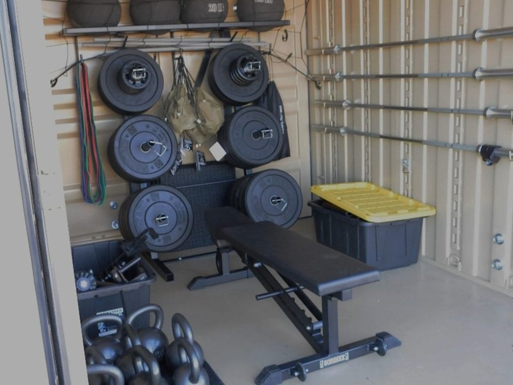 home gym storage container_pods moving and storage